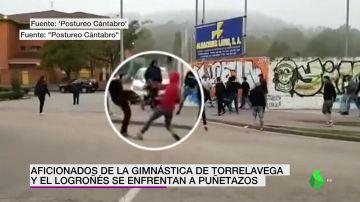 Brutal pelea entre los ultras de la Gimnástica de Torrelavega y la UD Logroñés