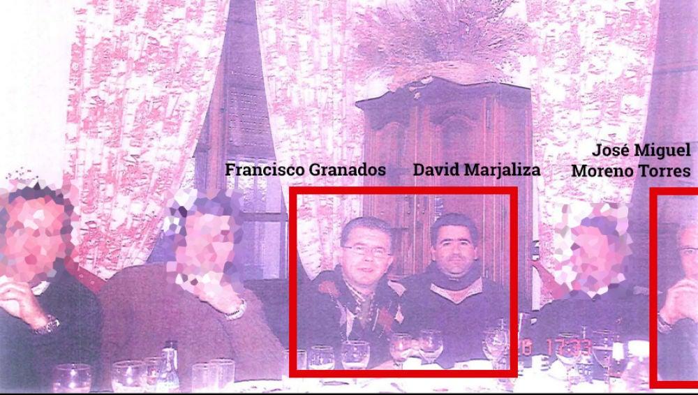 Francisco Granados y David Marjaliza junto a su grupo de caza