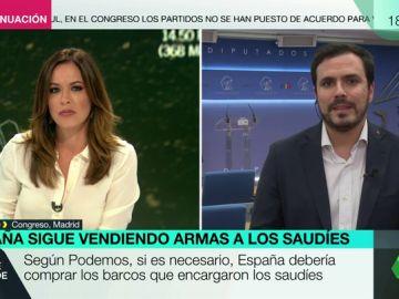 """Alberto Garzón, sobre la venta de armas: """"Hay que decirles a los Borbones que sus negocios oscuros en Arabia Saudí se han acabado"""""""