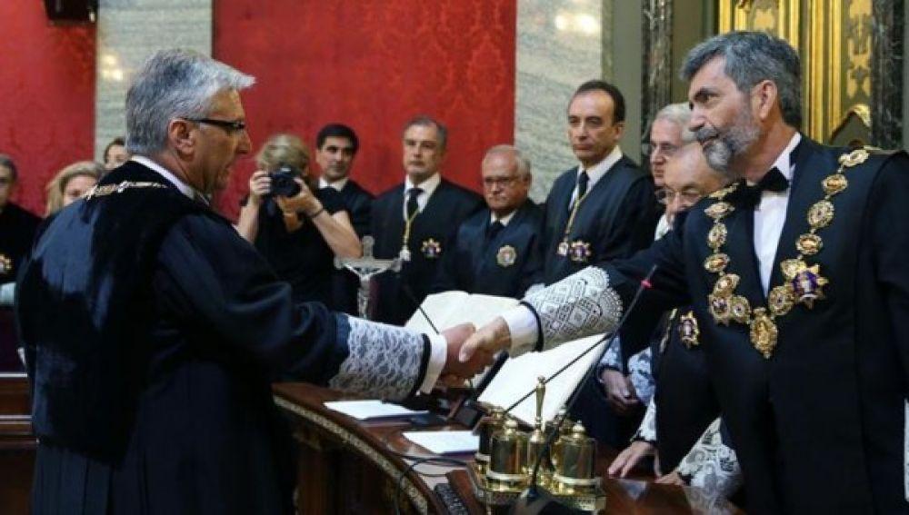 Luis María Díez-Picazo junto a Carlos Lesmes