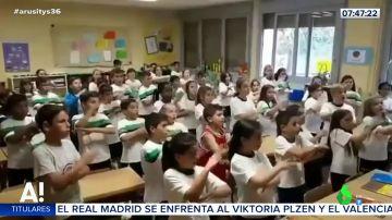 A ritmo de rap: la fantástica forma de aprender ángulos y paralelas en un colegio de Zaragoza