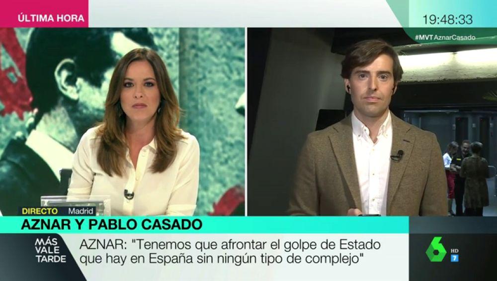 """Pablo Montesinos, tras la presentación de Aznar y Casado: """"Lo que están haciendo es escenificar su sintonía total"""""""