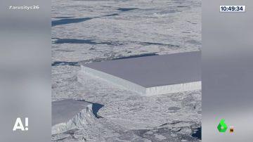 La extraña aparición de un iceberg perfectamente cuadrado en la Antártida