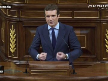 """#VídeosManipulados: Esto es lo que realmente estaba viendo Pablo Casado al llamar """"golpista"""" a Sánchez"""
