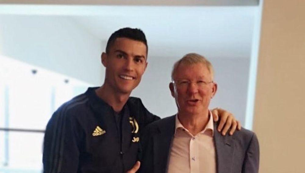 Cristiano Ronaldo y Alex Ferguson en Twitter