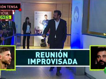 Reunión entre Sergio Ramos y José Ángel Sánchez