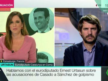 """Ernest Urtasun, sobre las acusaciones de Casado a Sánchez: """"Nadie tiene derecho a llamar golpista al presidente del Gobierno"""""""