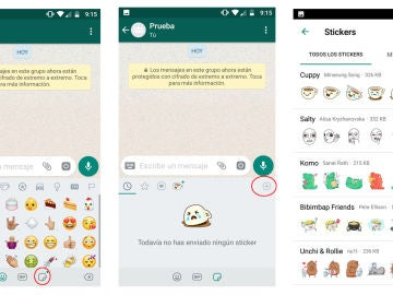 Stickers en WhatsApp