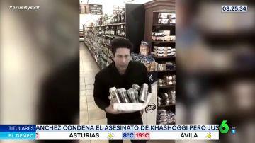 El divertido vídeo de David Schwimmer, Ross de 'Friends', parodiando el robo en un supermercado del que ha sido acusado por error