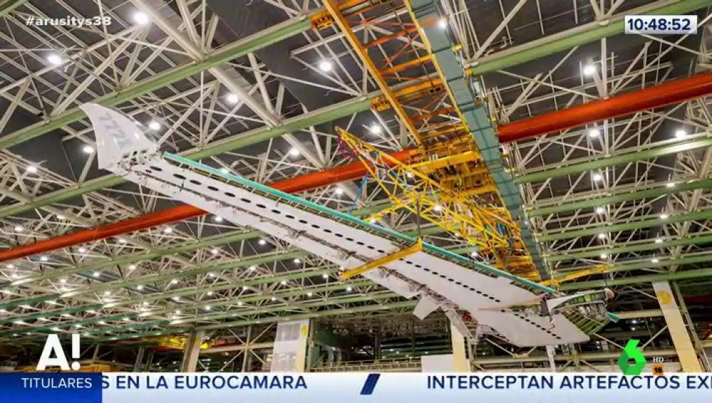 Las alas plegables de los aviones Boeing ya son una realidad