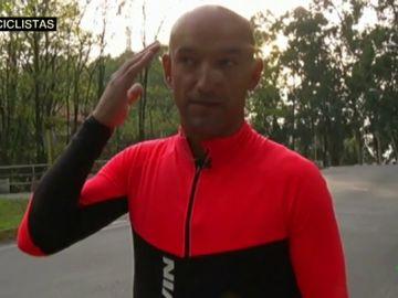Uno de los ciclistas agredidos en Pontevedra