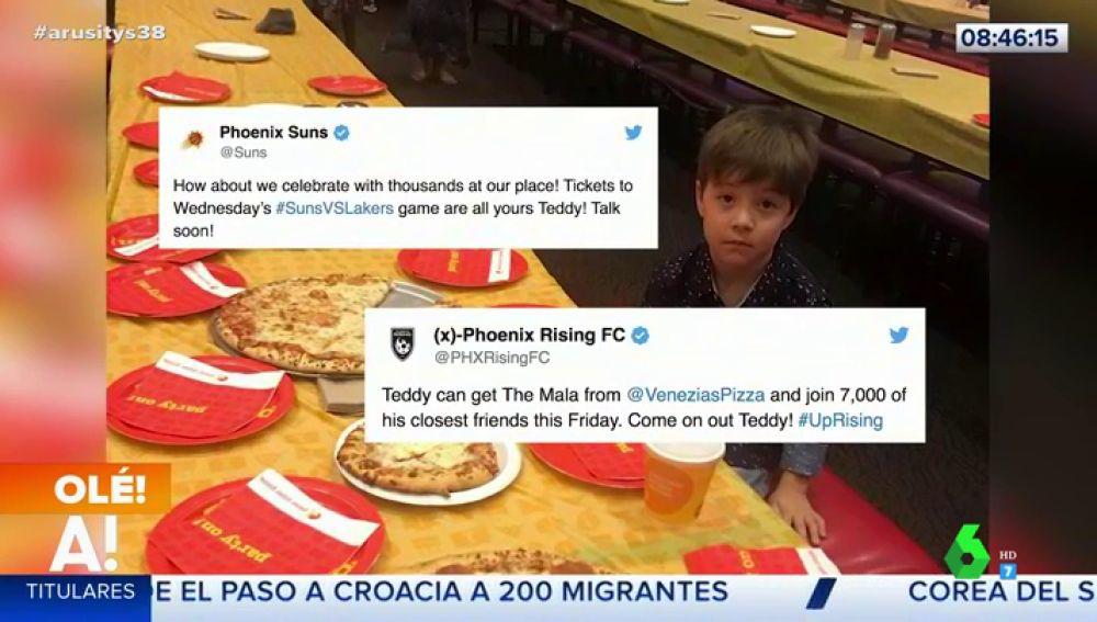 Teddy, el niño de seis años que celebró solo su cumpleaños sensibiliza a las redes