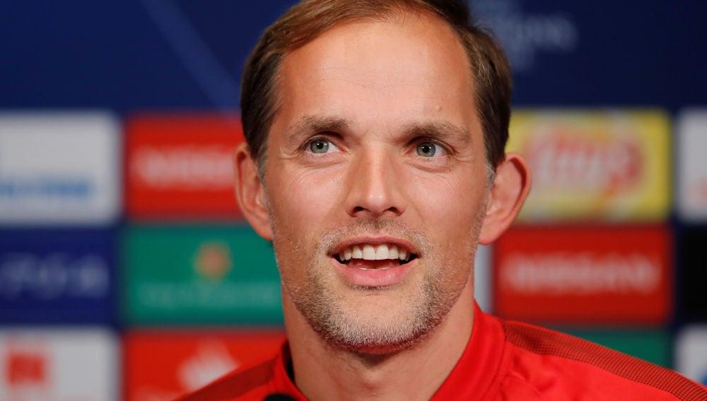 Thomas Tuchel en rueda de prensa tras el partido contra el Nápoles en Champions