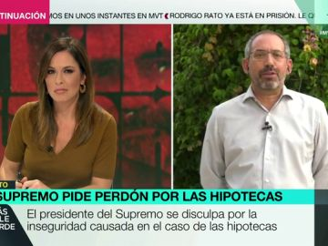 """Joaquín Urías, tras el perdón de Lesmes por el escándalo de las hipotecas: """"Él no está dispuesto a que cambie nada, al final ganará la banca"""""""