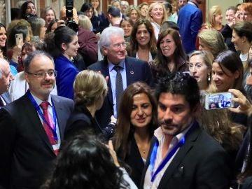 El actor estadounidense ,Richard Gere, durante su visita al Congreso