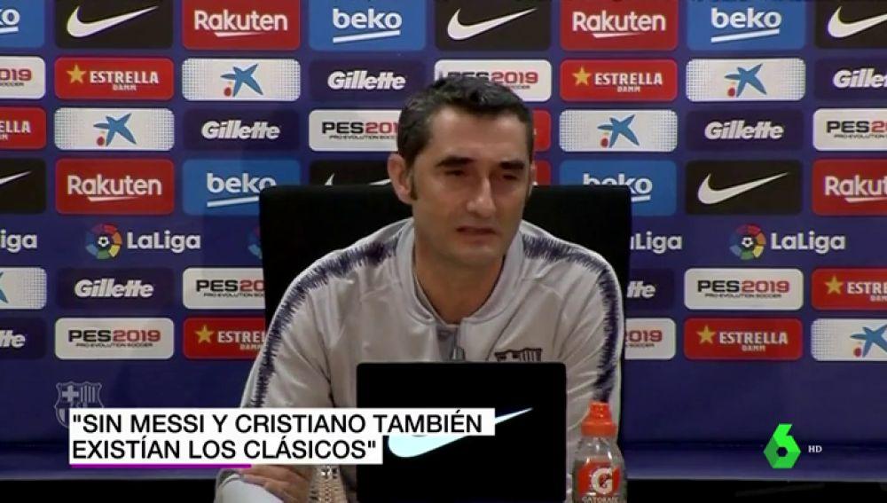 """Valverde: """"Antes de Messi y Cristiano ya existía el Clásico, había tensión... había hasta cochinillos volando"""""""