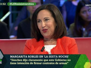 "Margarita Robles: ""Garantizo que las bombas del Ejército no irán a parar a Arabia Saudí"""