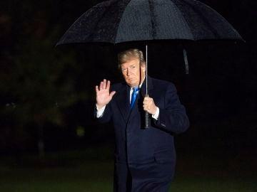 Donald Trump volviendo a la casa Blanca