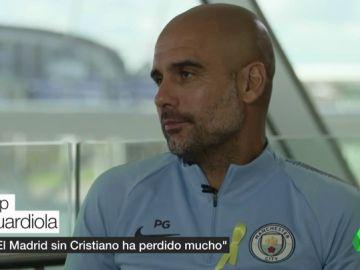 """Pep Guardiola habla sobre el Real Madrid: """"Sin Cristiano han perdido 50 ó 60 goles"""""""