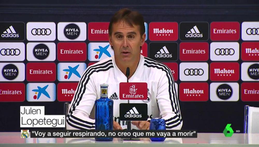 """Lopetegui: """"¿Sorpresa ganar en el Camp Nou? No es ninguna sorpresa que ganemos en ningún campo"""""""