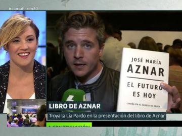 Luis Troya la lía en la presentación del libro de Aznar