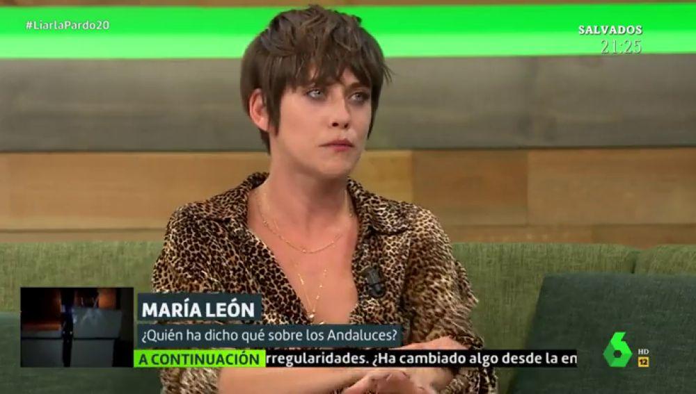 La actriz María León en Liarla Pardo
