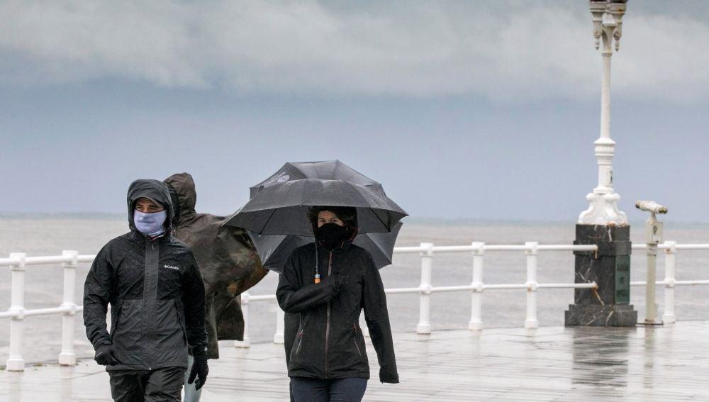 Temporal de lluvia y nieve en Asturias