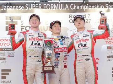 Podio Super Fórmula Suzuka 2018