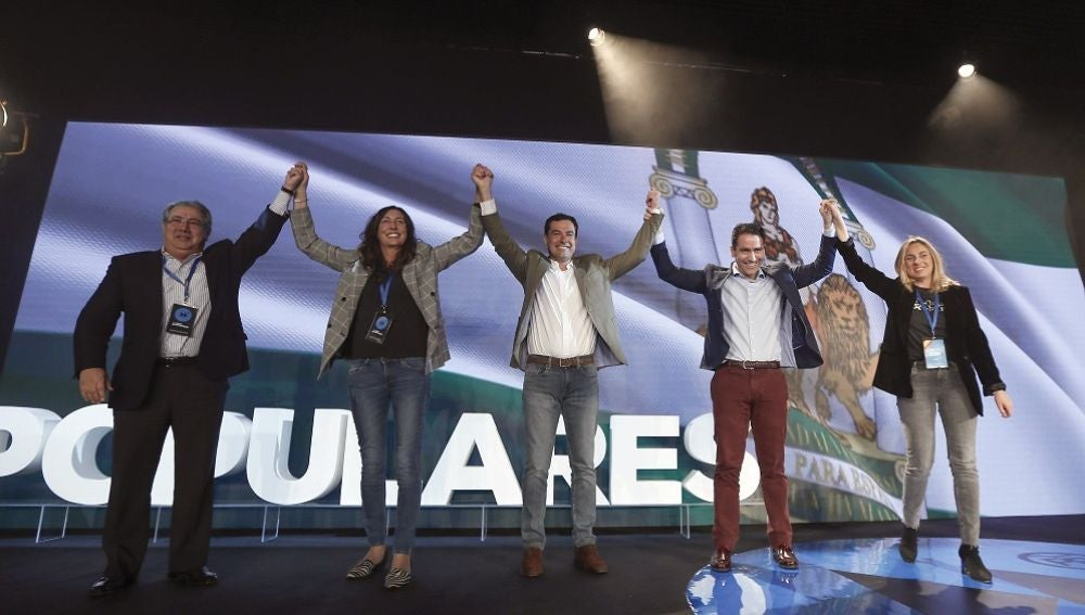 Juanma Moreno en la Interparlamentaria del PP