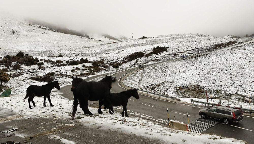 Imagen de una carretera nevada