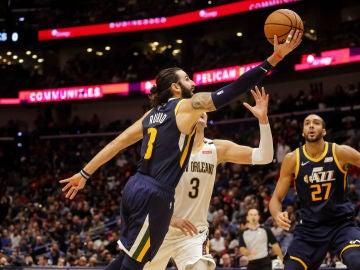 Ricky Rubio, en acción ante los Pelicans