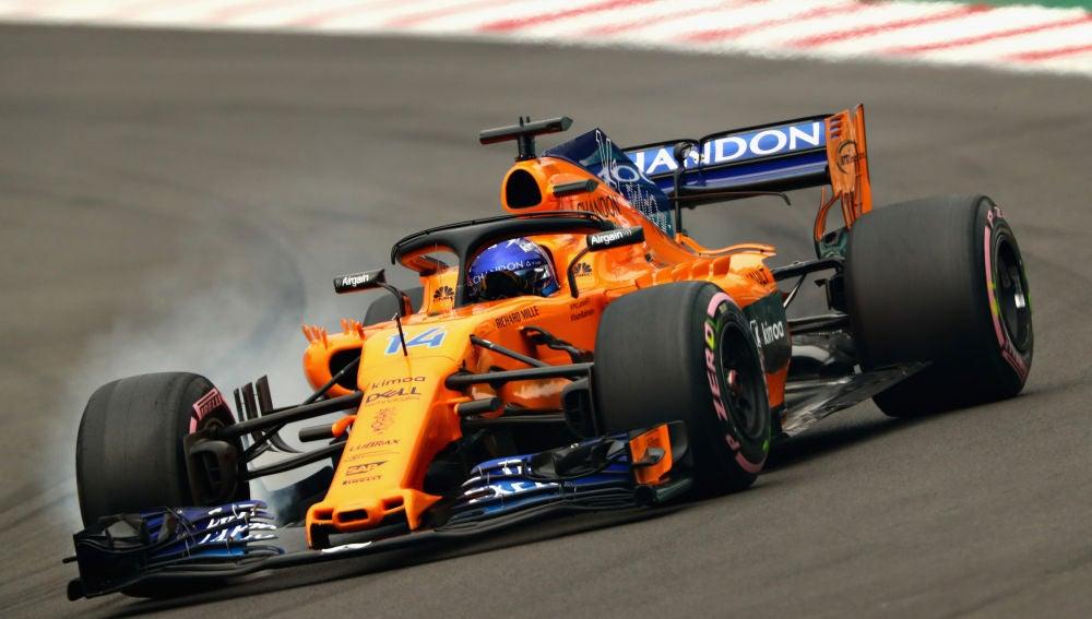 Fernando Alonso, en el GP de México