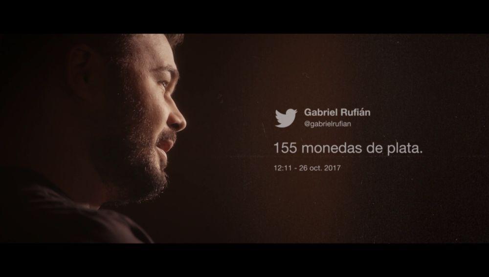 Gabriel Rufián, en Salvados: El dilema