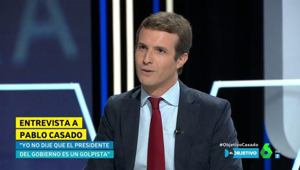 El líder del PP Pablo Casado en El Objetivo