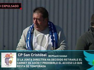 El San Cristóbal expulsa a un aficionado por insultos machistas