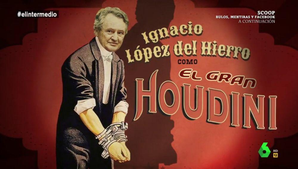 """López del Hierro, """"el gran Houdini de la justicia"""": """"Se trata de un escapista único no se libra de las cadenas, se libra de las condenas"""""""