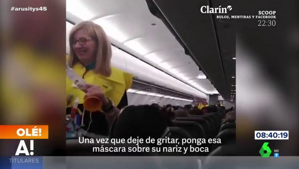 Discurso viral del piloto de un avión