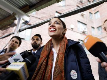 La candidata demócrata a la Cámara de Representantes por Nueva York, Alexandria Ocasio-Cortez