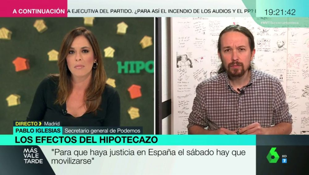 """Pablo Iglesias, crítico con la actuación del Gobierno: """"¿Cómo van los partidos tradicionales a enfrentarse a los bancos si se financian con ellos?"""""""