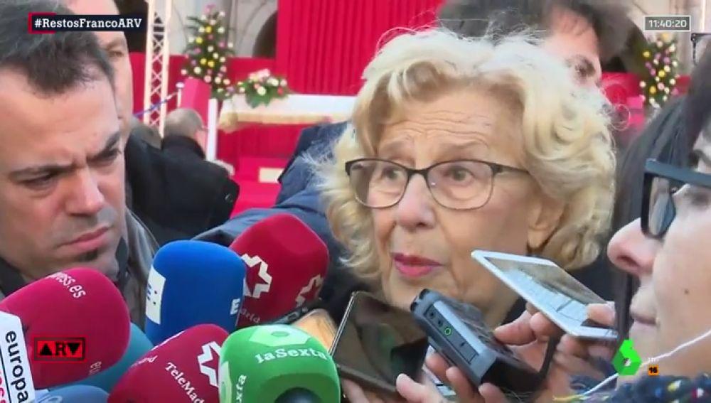 """Carmena: """"No puede ser que Franco tenga un lugar de exaltación, lo más importante es cumplir la Ley de Memoria Histórica"""""""