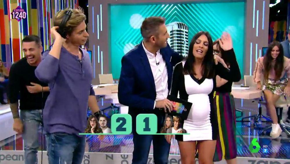 """El 'disgusto' de Lorena Castell tras perder junto a Carlos Baute el Juego de la SemAnna: """"Espero que al menos el bebé me salga con talento musical"""""""