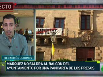 Márquez no celebrará su título en el ayuntamiento por una pancarte independentista
