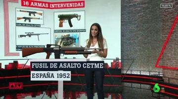 Estas son las armas que tenía el francotirador que quería matar a Sánchez: dos están terminantemente prohibidas