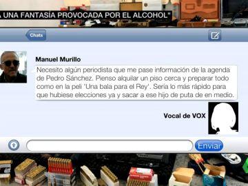 """Los mensajes que mandó el francotirador confesando su intención de matar a Sánchez: """"Sería lo más rápido y sacar a ese hijo de puta del medio"""""""