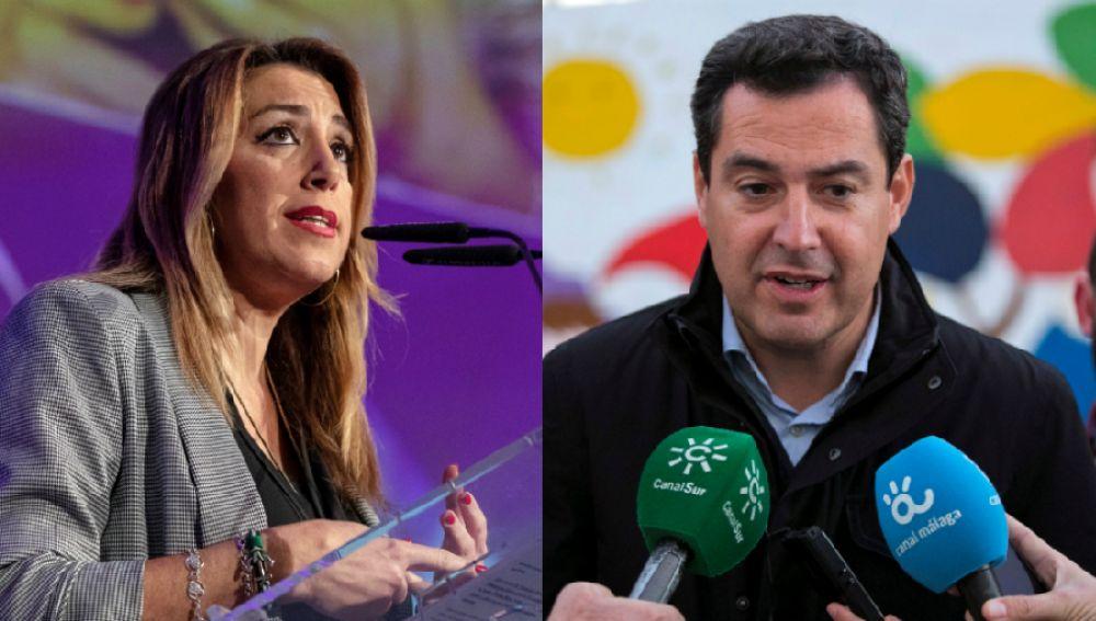 Susana Díaz y Juanma Moreno