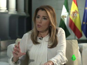 Susana Díaz responde a los carteles de las Nuevas Generaciones del PP en laSexta Noche