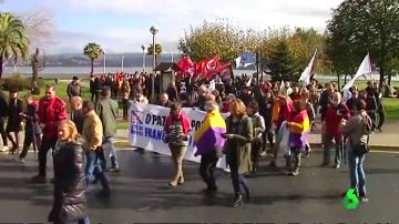 Manifestación para la recuperación del Pazo de Meirás