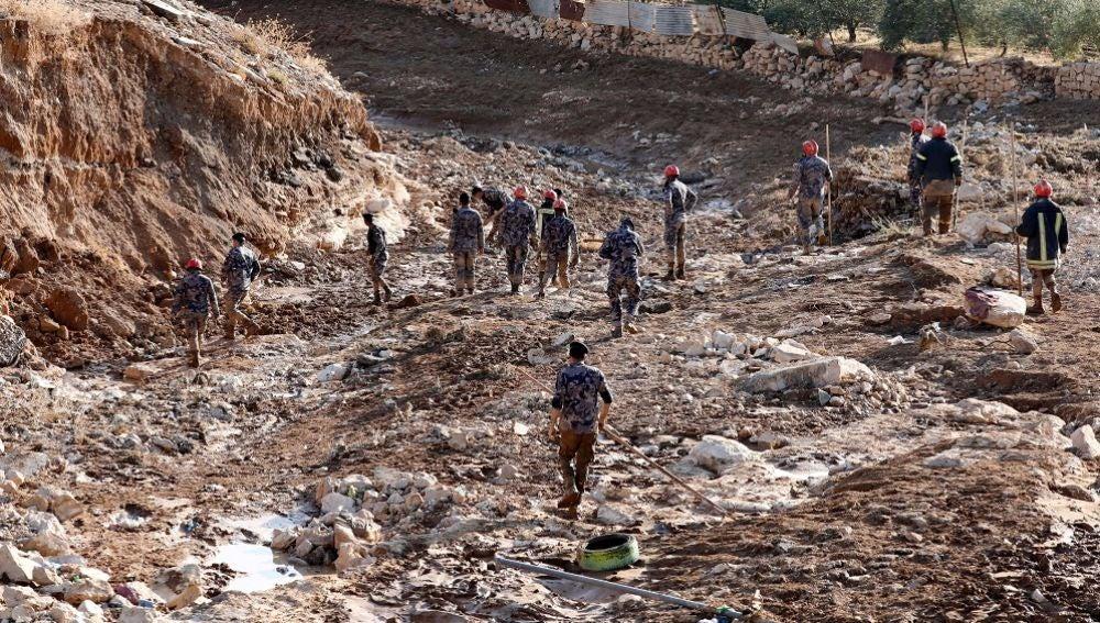 Imagen de las inundaciones en Petra
