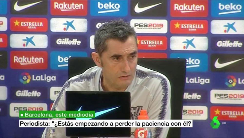 """Valverde, sobre la ausencia de Dembélé: """"¿Un castigo? No, cada uno puede interpretarlo como quiera"""""""