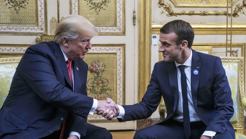 Donald Trump y Emmanuel Macron en el Elíceo